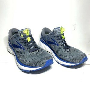 Brooks Mens Ghost 11 Running Shoes Gray Blue Lace